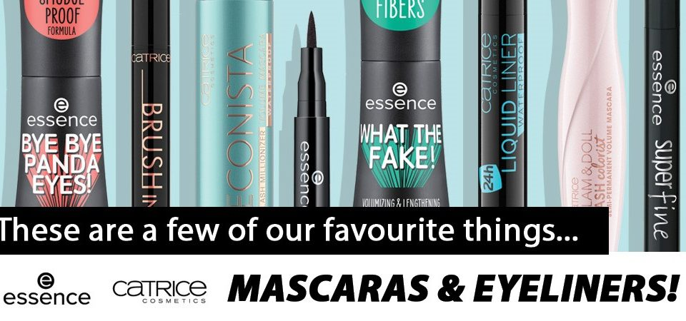 essence and catrice mascaras and eyeliners